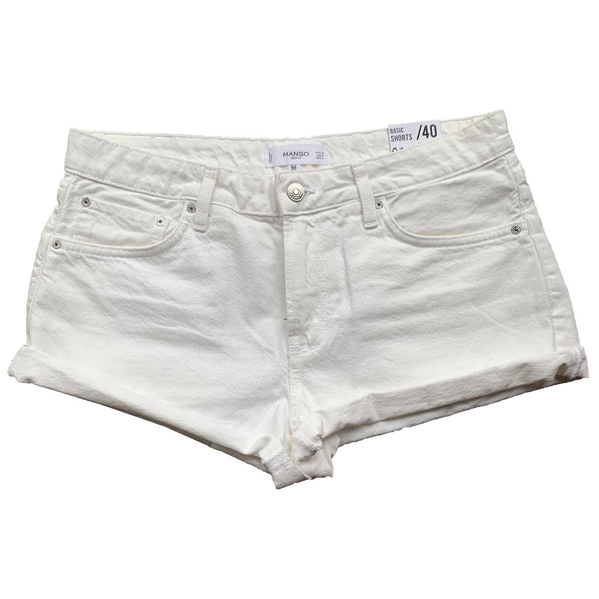 Mango \N Ecru Denim - Jeans Shorts for Women 40 FR