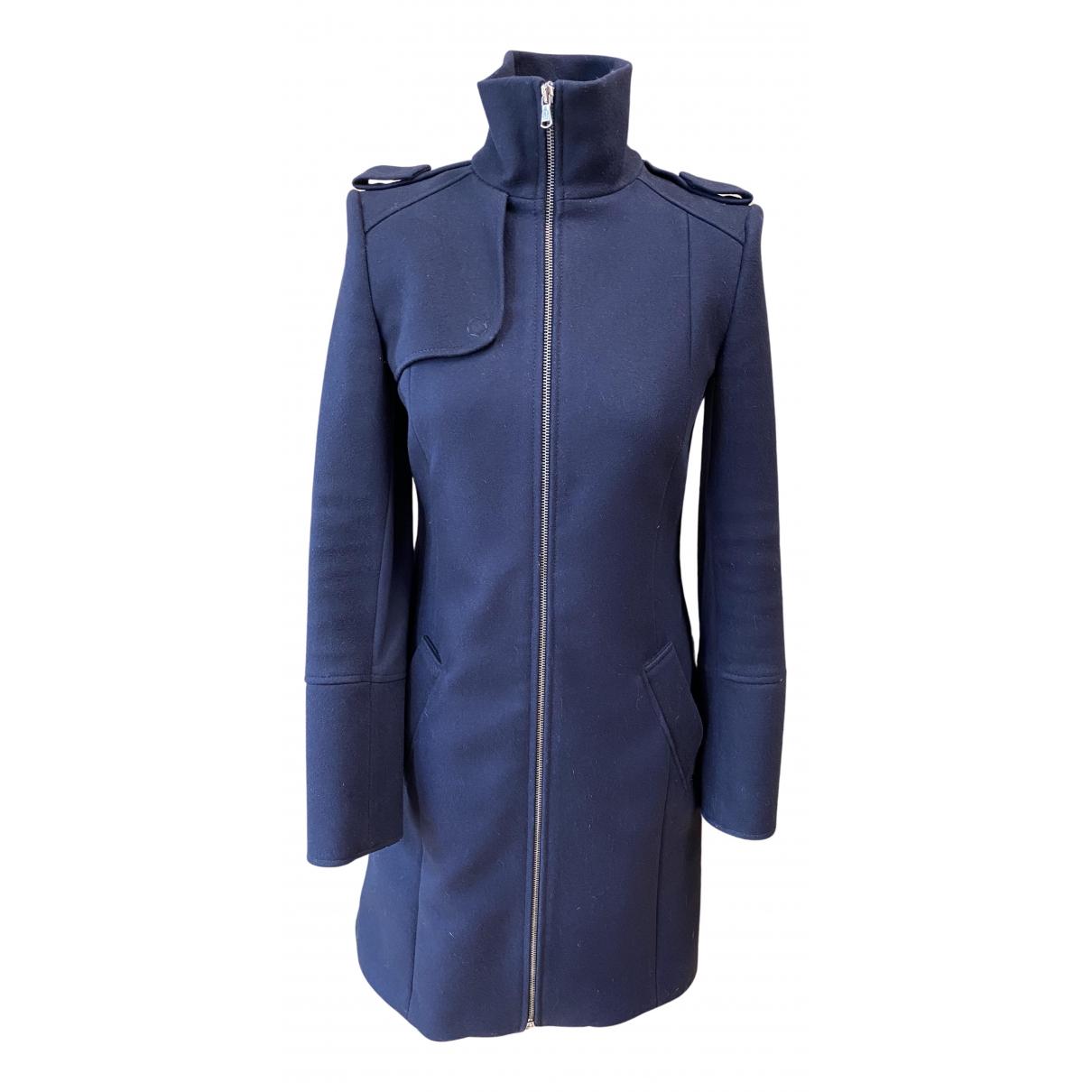 Patrizia Pepe - Manteau   pour femme en laine - marine