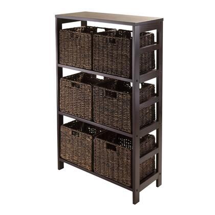 92051 Granville 7pc Storage Shelf with 6 Foldable Baskets
