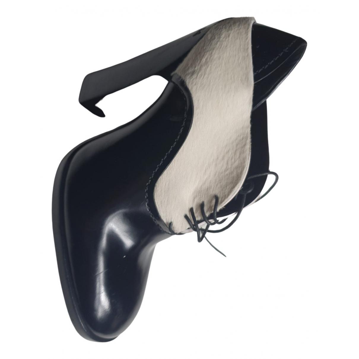 Jil Sander - Escarpins   pour femme en veau facon poulain - noir