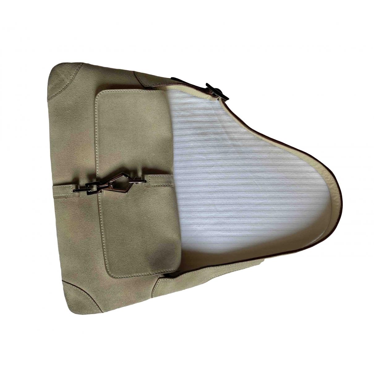 Gucci \N Handtasche in  Beige Veloursleder