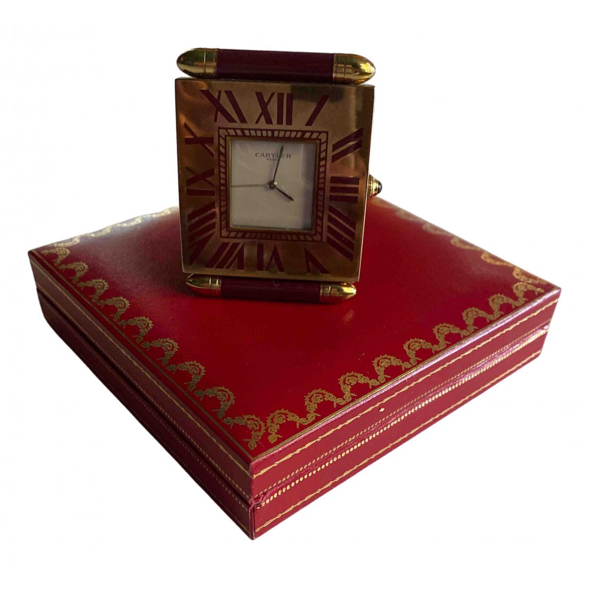 Cartier \N Accessoires und Dekoration in  Bordeauxrot Gelbgold