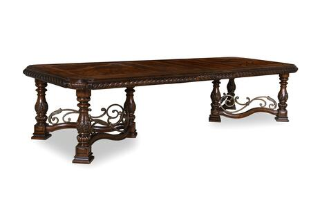 209221-2304 Valencia Trestle Extendable Dining Table in Dark
