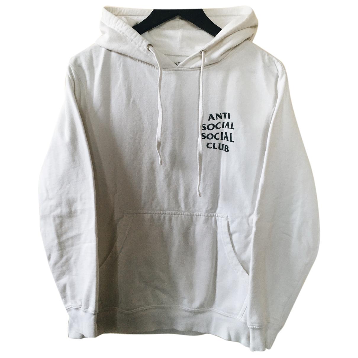 Anti Social Social Club \N Pullover.Westen.Sweatshirts  in  Weiss Baumwolle