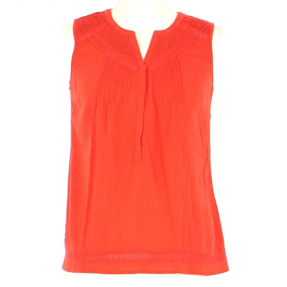 Comptoir Des Cotonniers N Orange Cotton  top for Women 36 FR