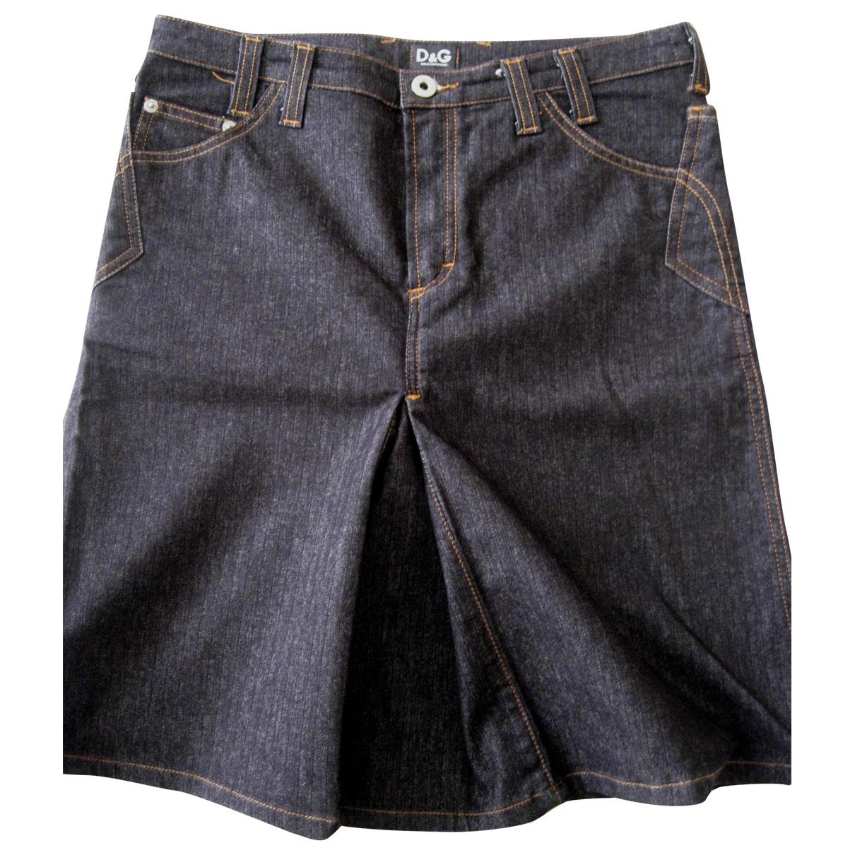 D&g \N Blue Cotton - elasthane skirt for Women 42 IT