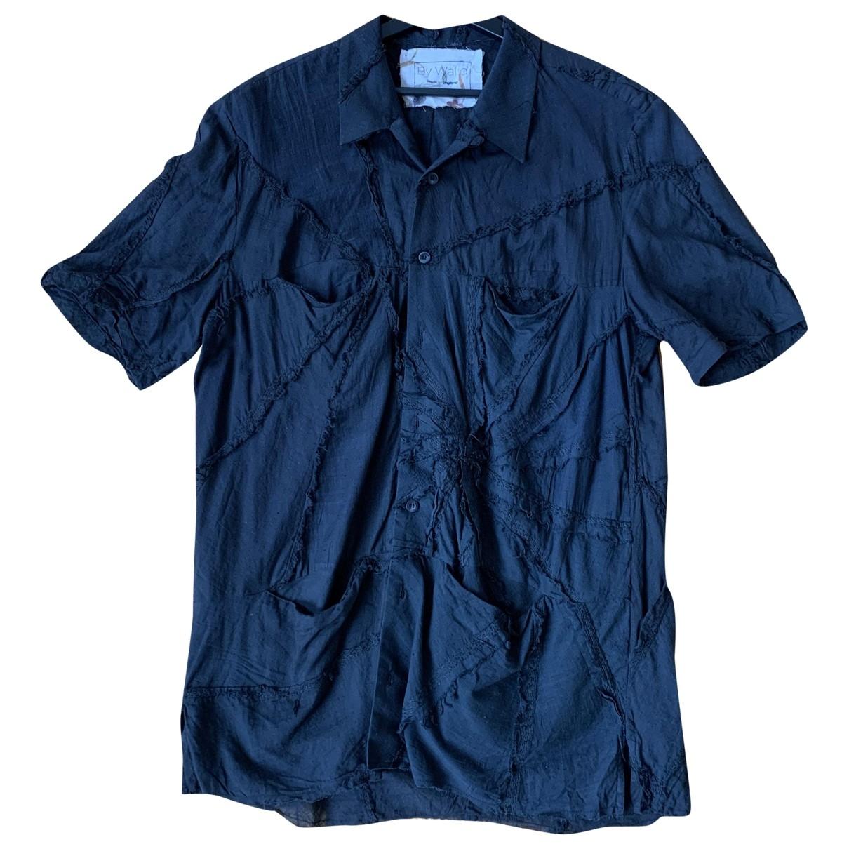 By Walid \N Black Cotton Shirts for Men M International