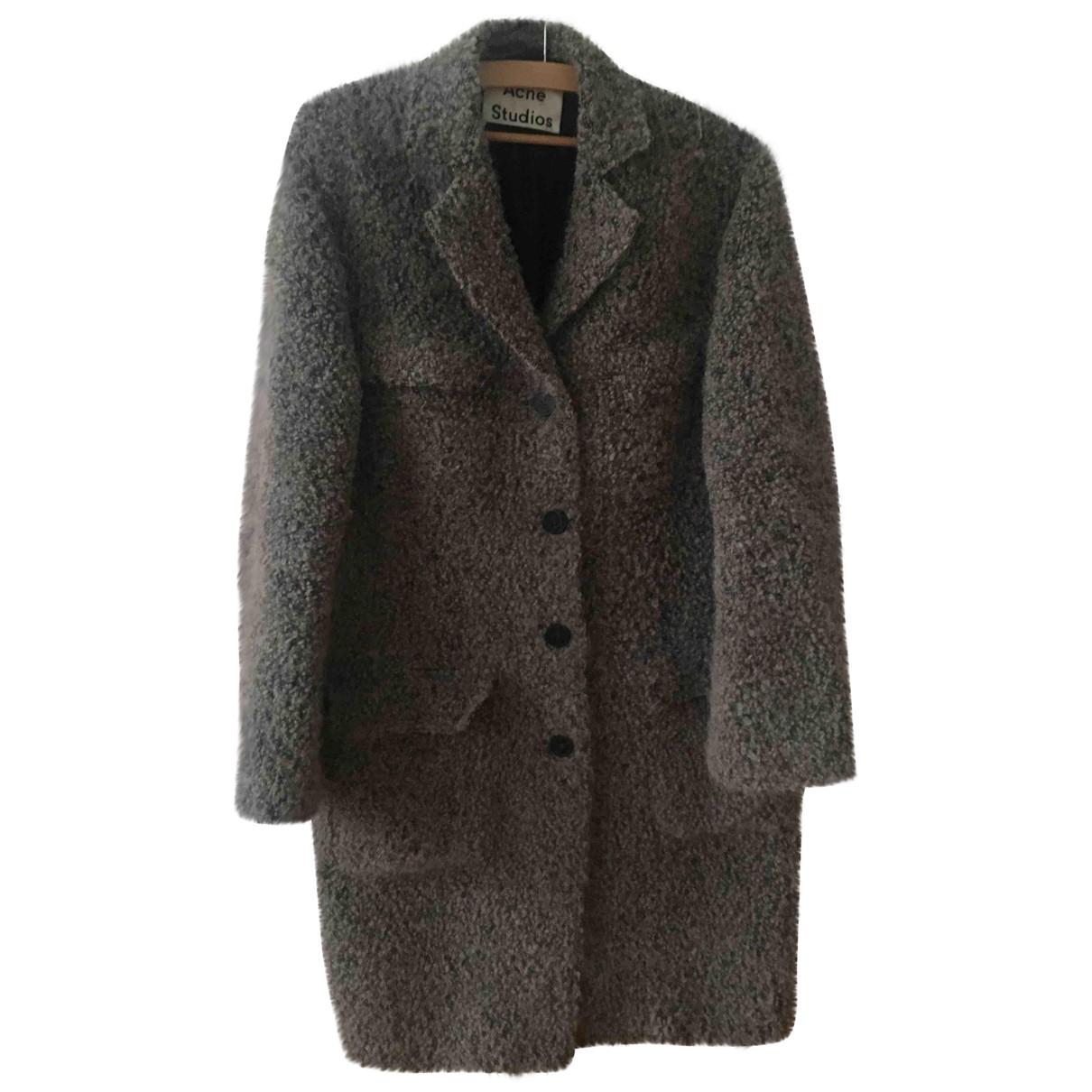 Acne Studios - Manteau   pour femme en laine - gris