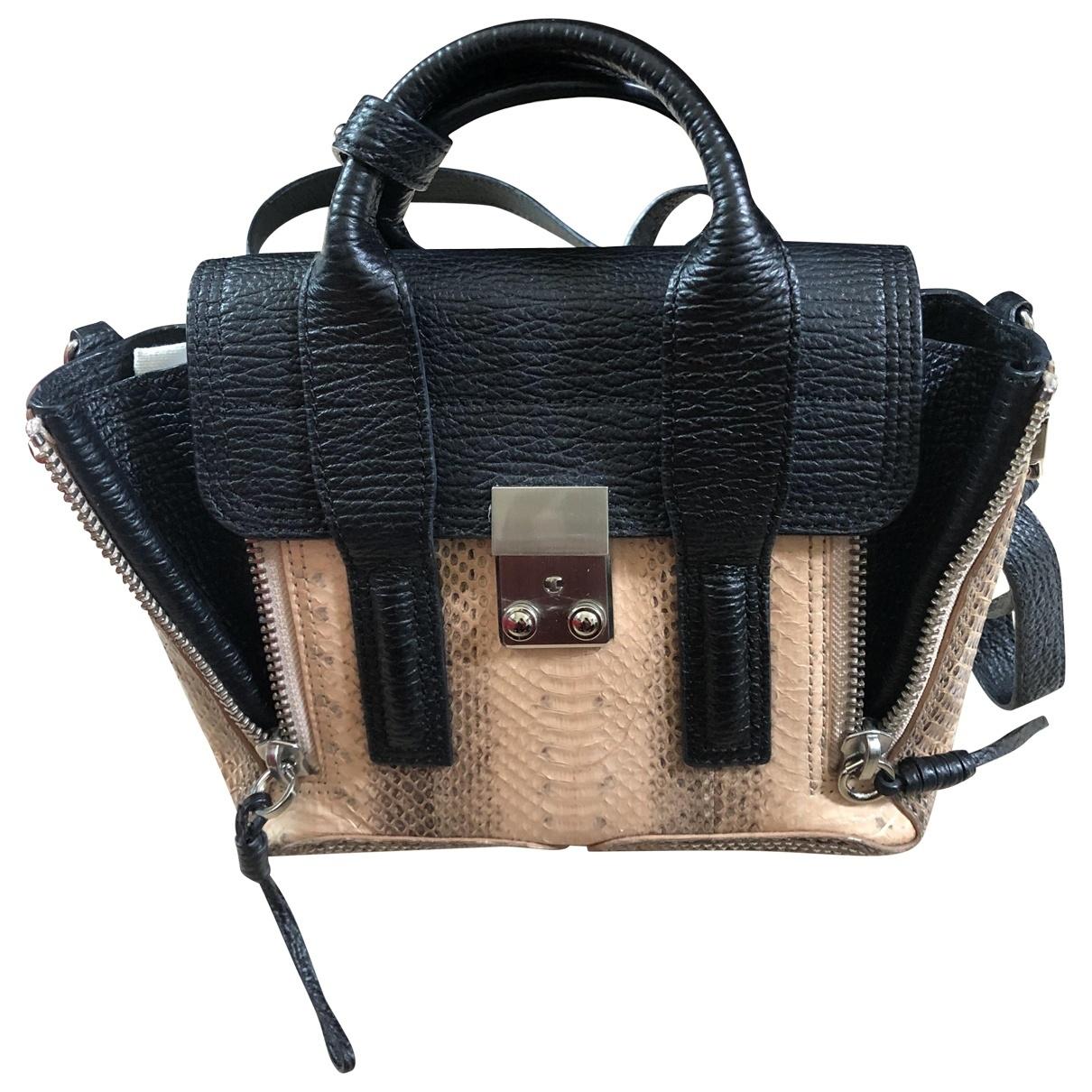 3.1 Phillip Lim Pashli Handtasche in  Schwarz Exotenleder