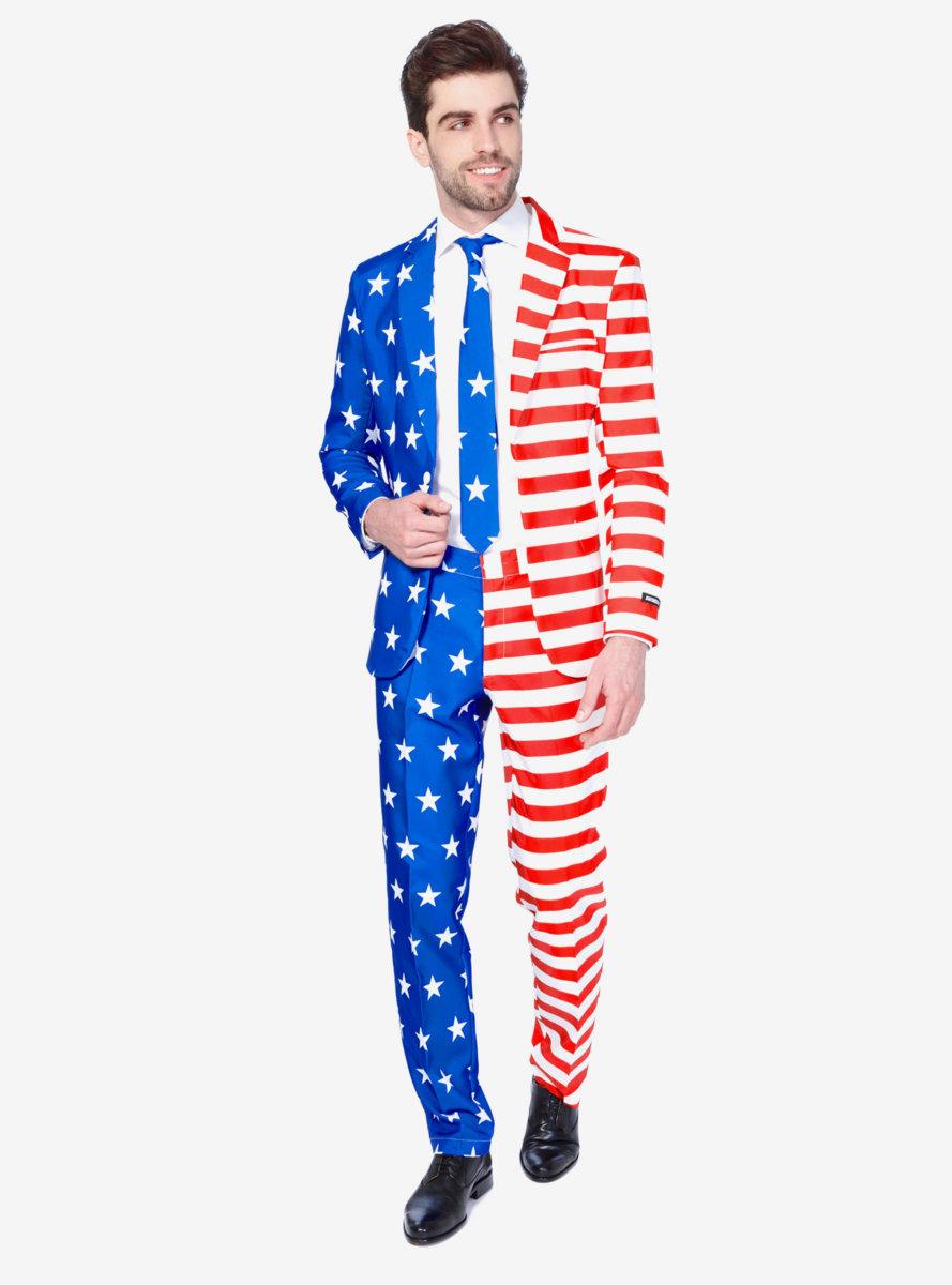 Suitmeister Men's USA Flag Americana Suit