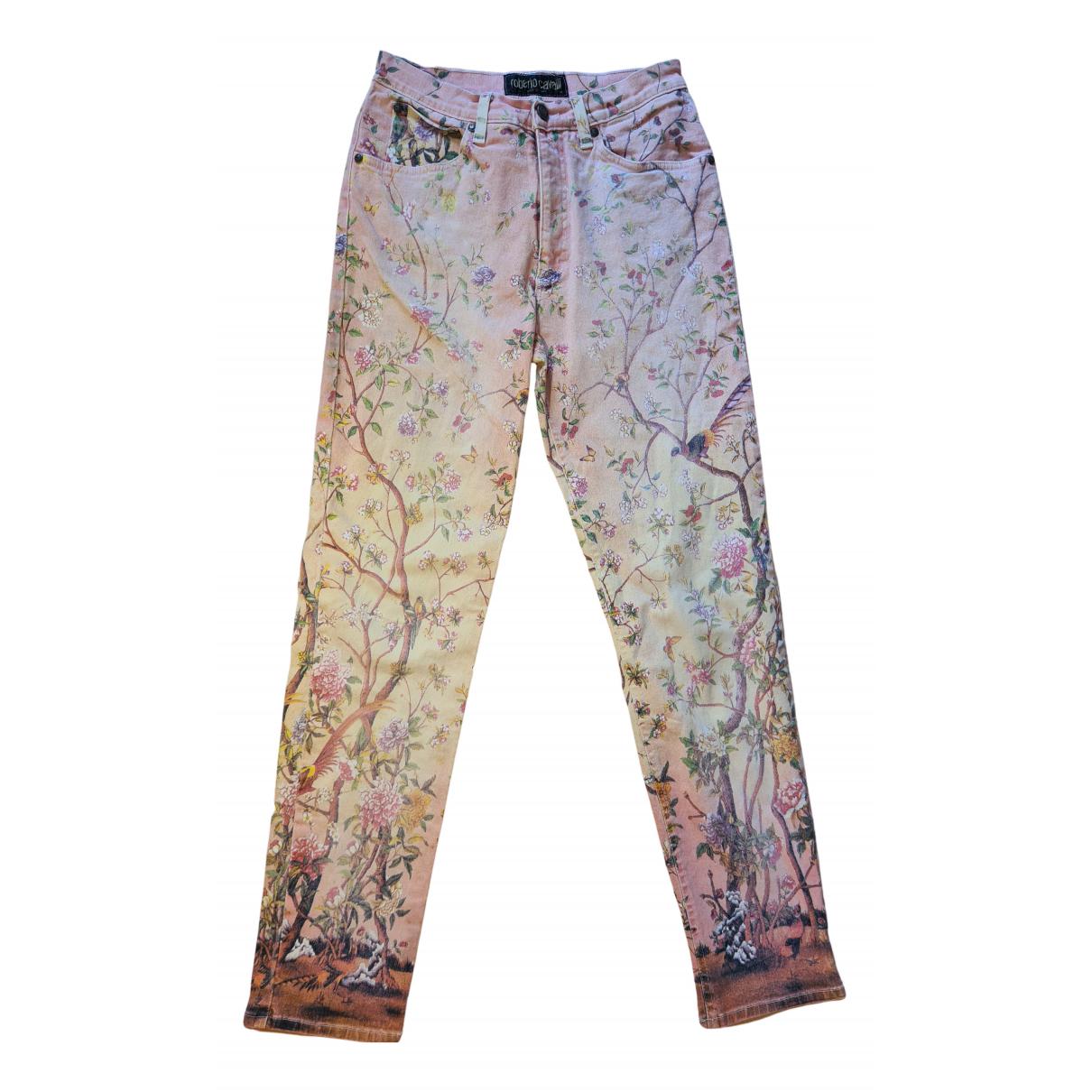Roberto Cavalli N Multicolour Cotton - elasthane Jeans for Women 42 FR