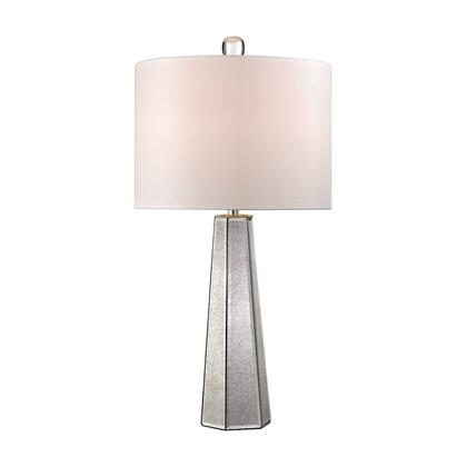 D2751 Hexagonal Mercury Glass Lamp  In
