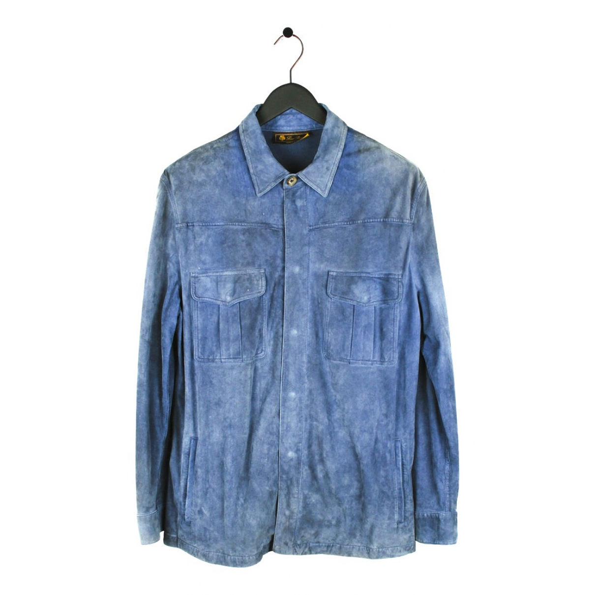 Loro Piana N Blue Suede jacket  for Men XXL International