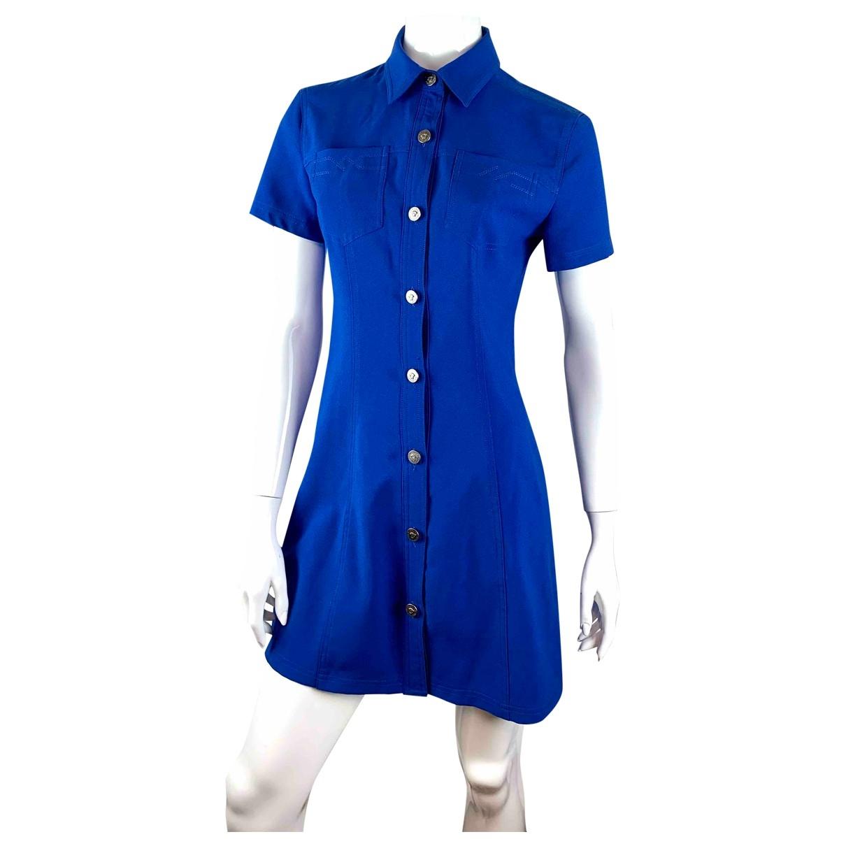Versace Jeans \N Kleid in  Blau Polyester