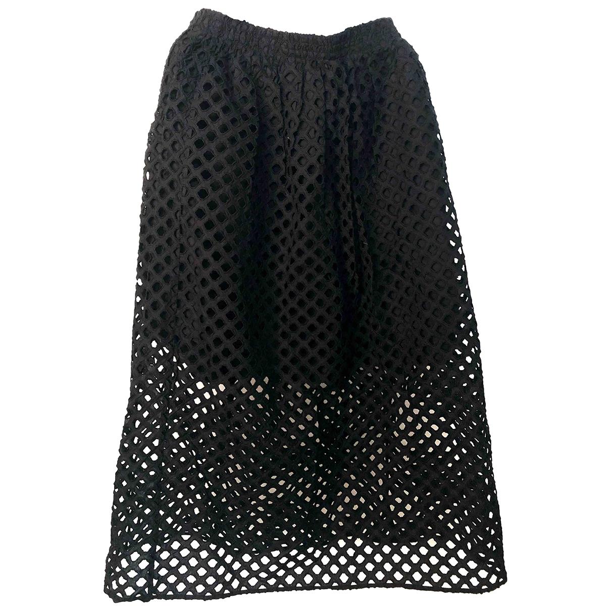 Carven \N Black Cotton skirt for Women 38 FR
