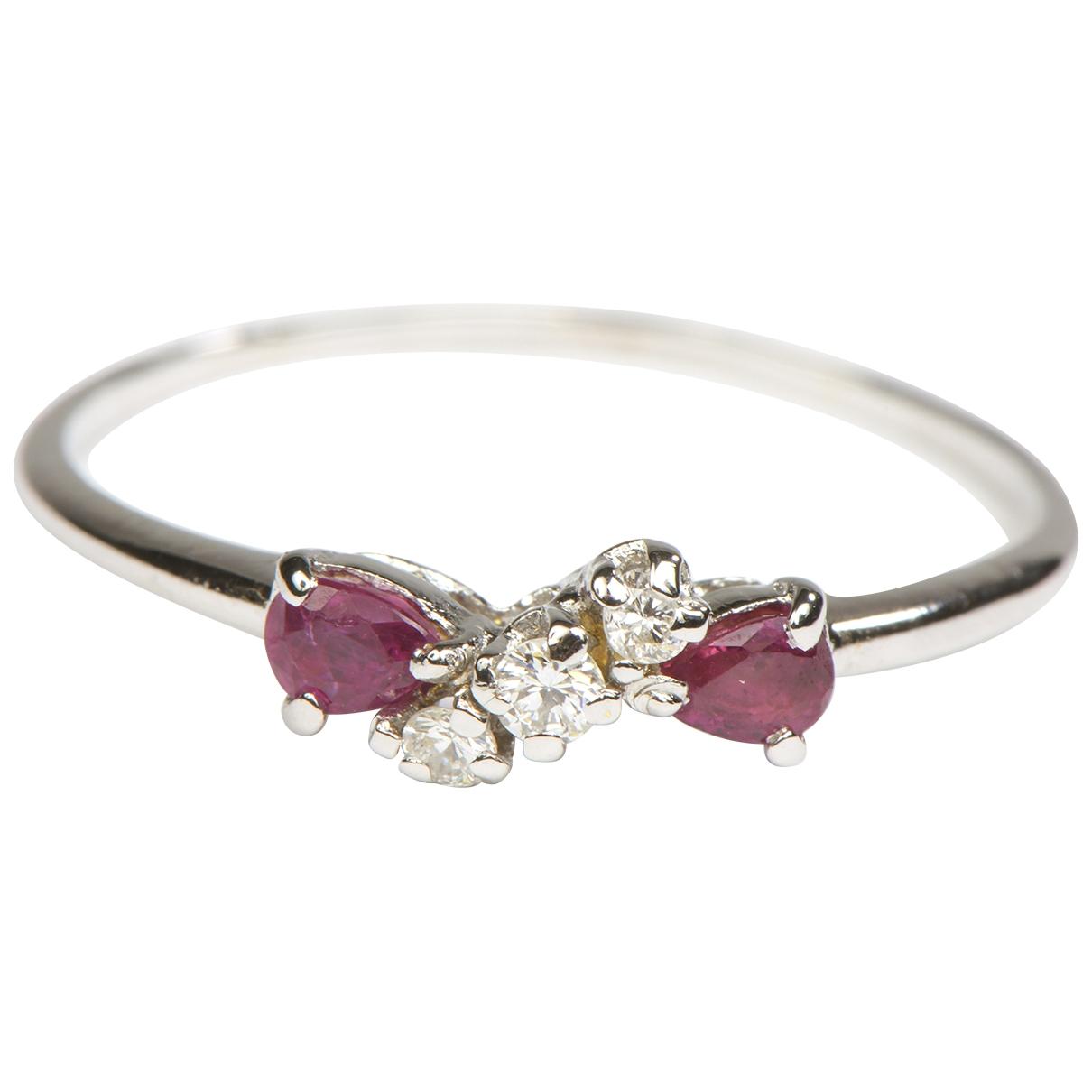 Autre Marque \N Silver White gold ring for Women 58 EU