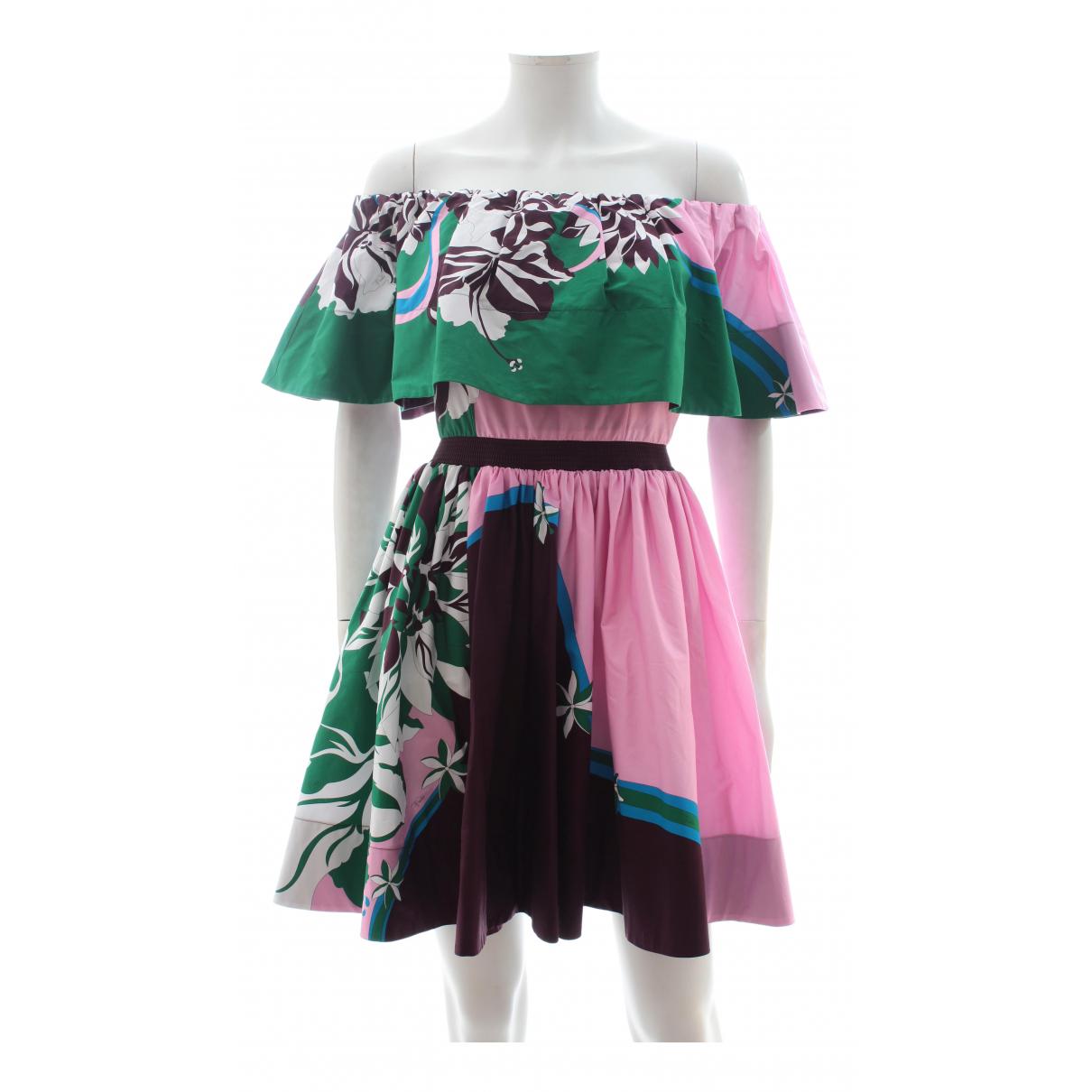 Emilio Pucci - Robe   pour femme en coton - multicolore