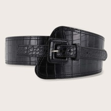 Croc Pattern Wide Belt