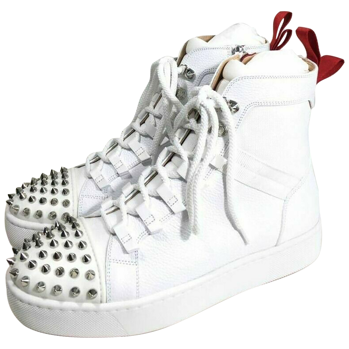 Christian Louboutin \N White Leather Trainers for Men 39 EU