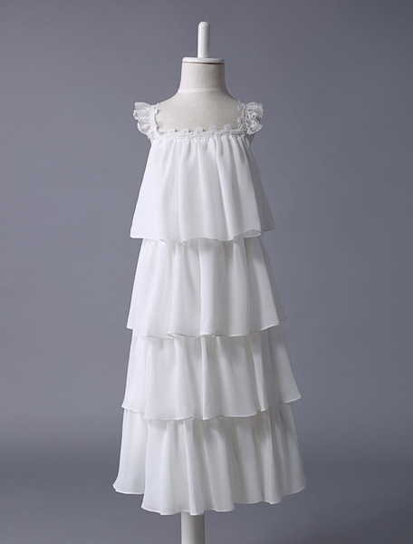 Milanoo Vestido estilo Bohemia de damitas de chifon con correa spaghetti y capas