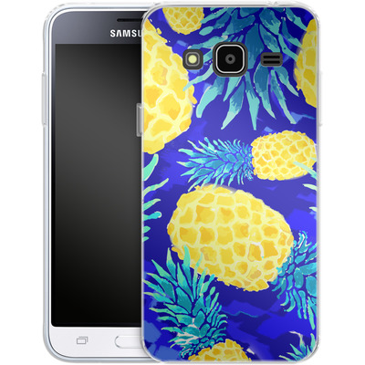 Samsung Galaxy J3 (2016) Silikon Handyhuelle - Pineapple Crush von Mukta Lata Barua