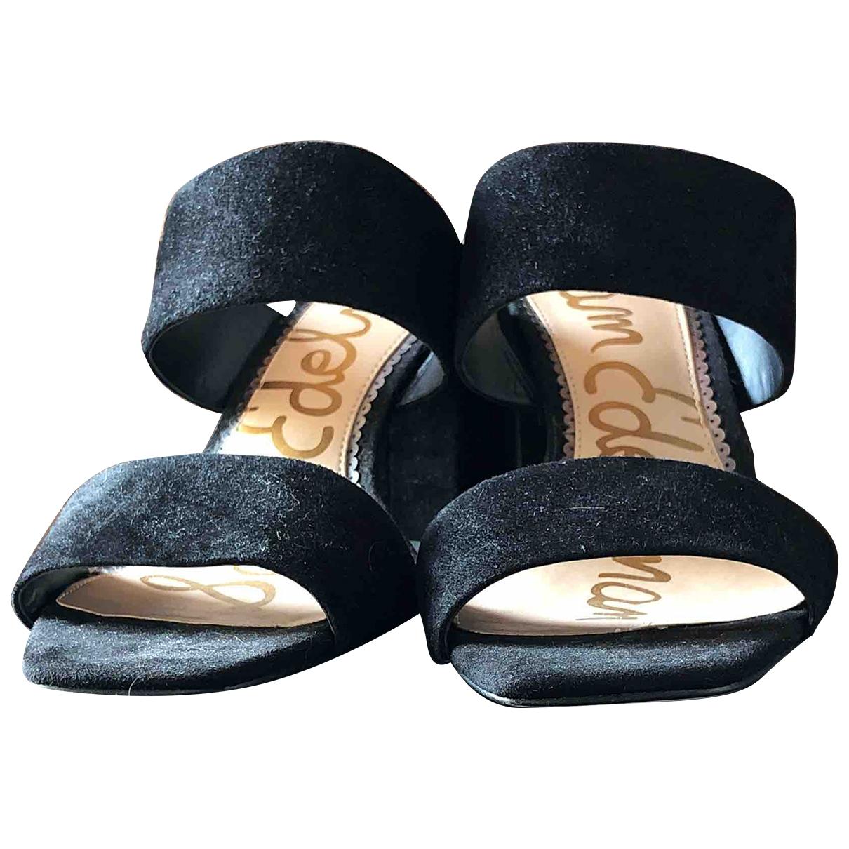 Sam Edelman \N Black Suede Sandals for Women 39.5 IT
