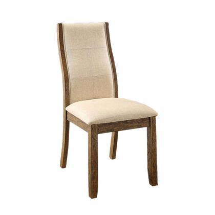 BM131126 Onway Contemporary Side Chair  Oak & Beige  Set Of