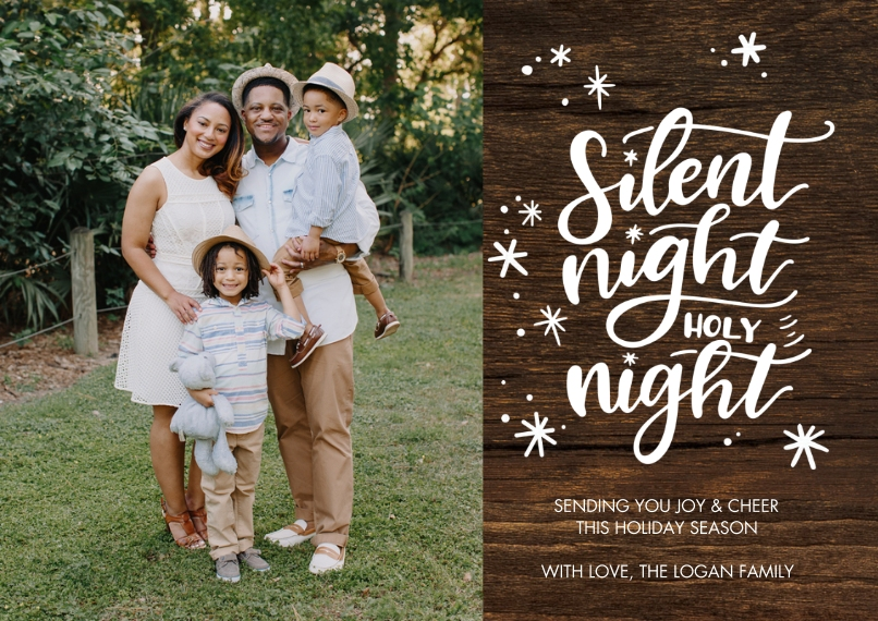 Christmas Photo Cards 5x7 Cards, Standard Cardstock 85lb, Card & Stationery -Christmas Silent Night by Tumbalina