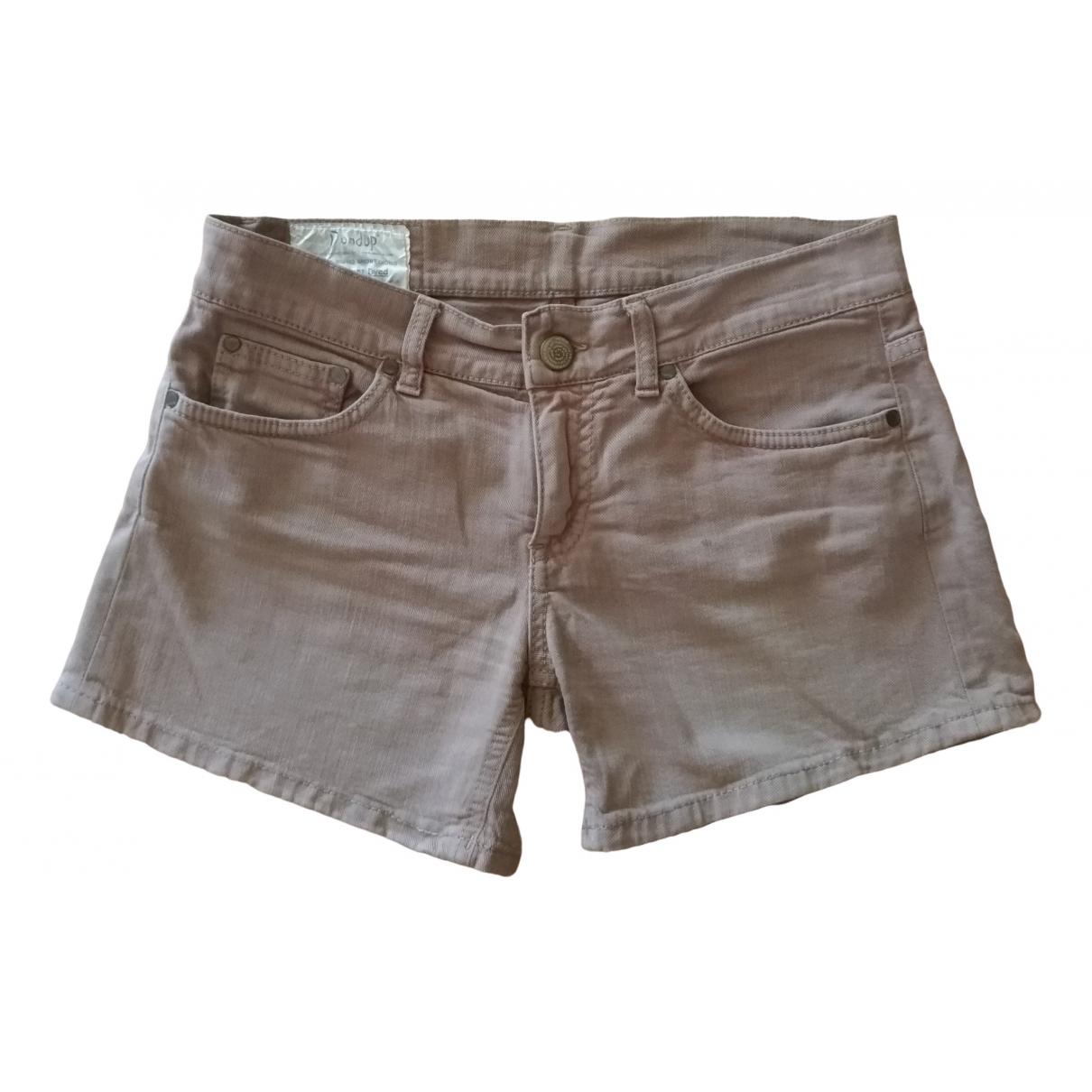Dondup \N Shorts in  Beige Baumwolle - Elasthan