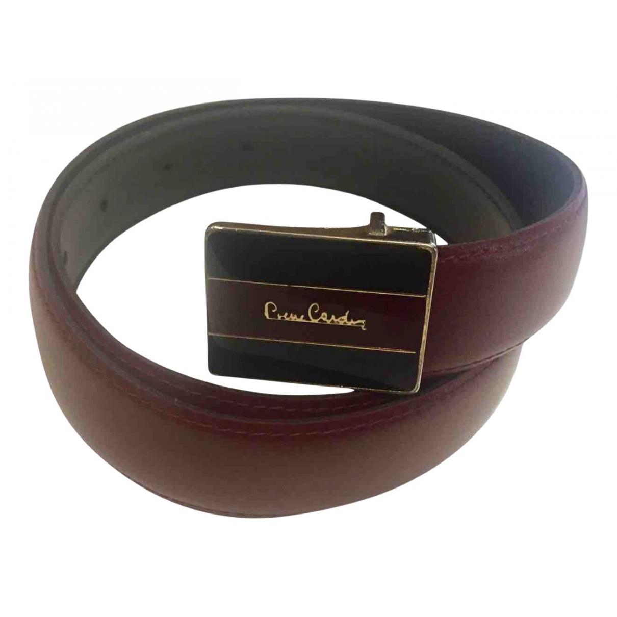 Pierre Cardin \N Guertel in  Bordeauxrot Leder