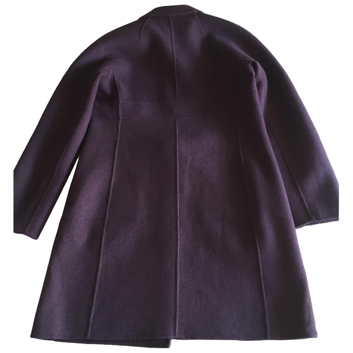 Max Mara 's Max Mara Atelier Purple Wool coat for Women 40 IT