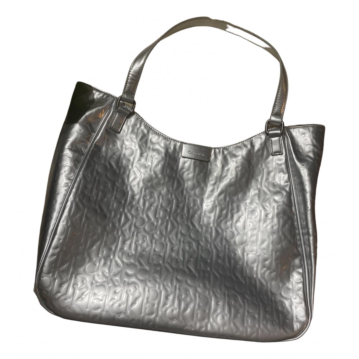 Calvin Klein \N Handtasche in  Silber Synthetik