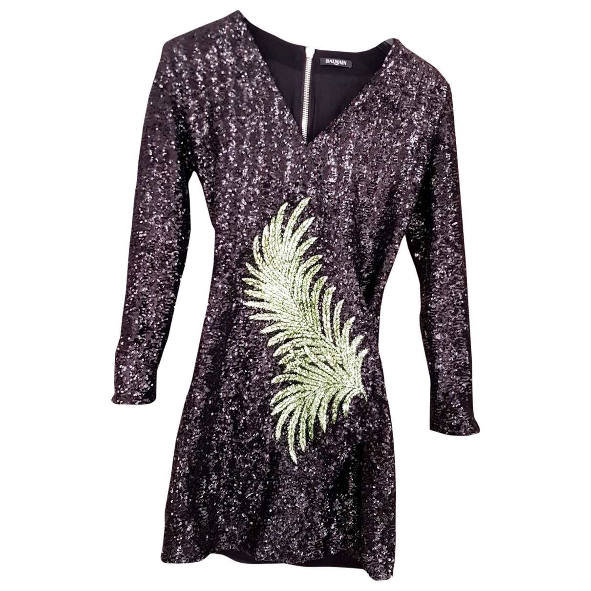 Balmain \N Black Glitter dress for Women 38 FR