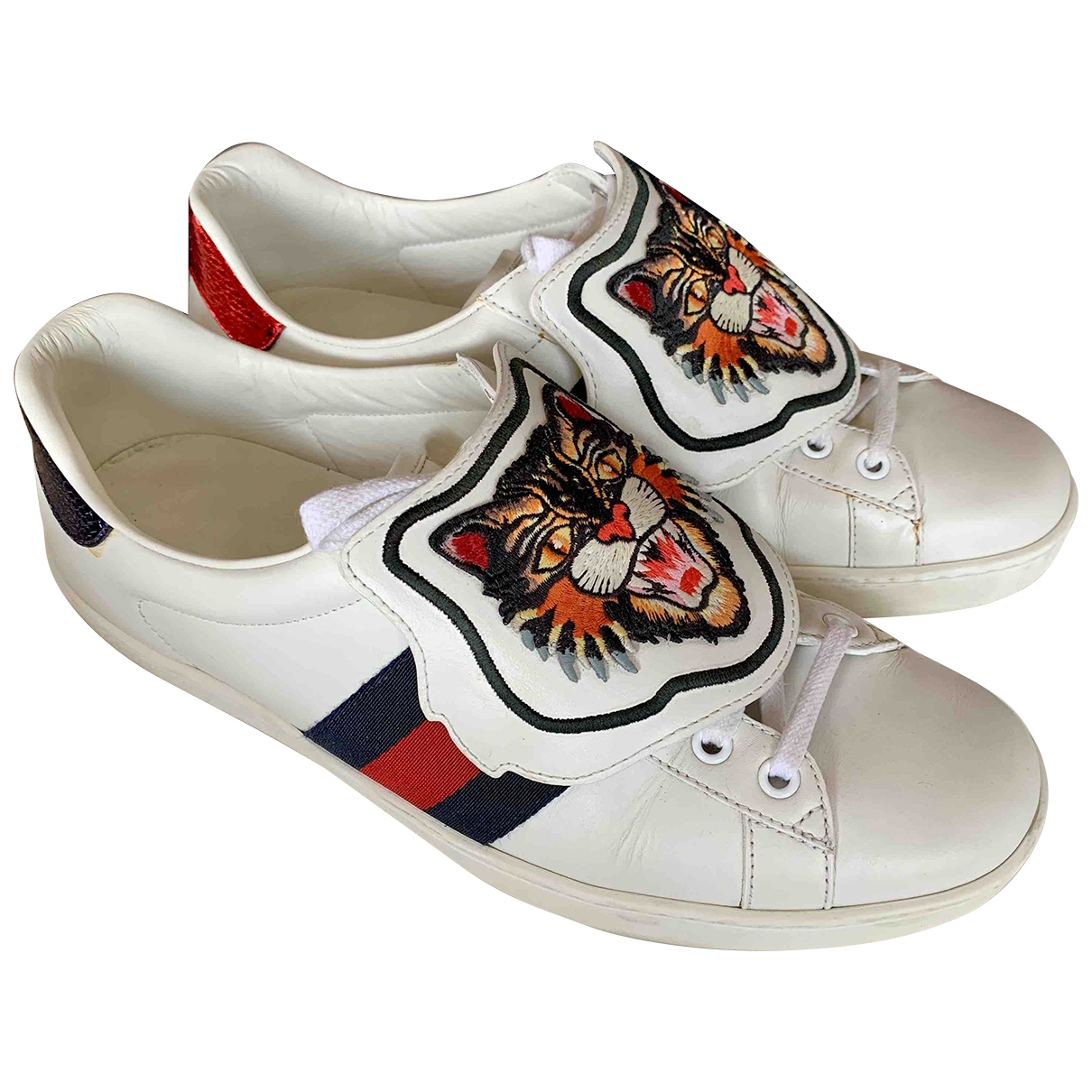 Gucci Ace White Leather Trainers for Men 8 UK