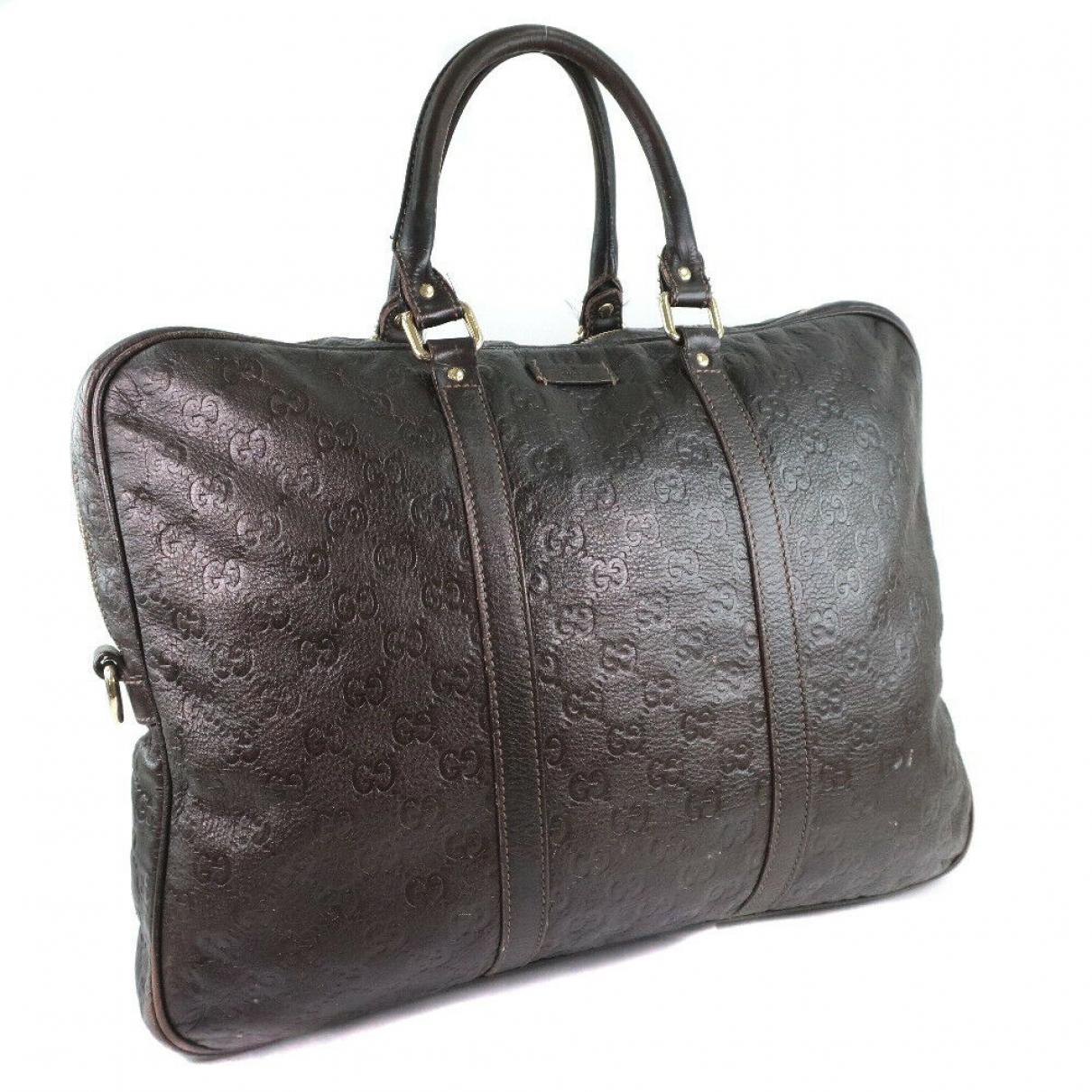 Bolso de viaje de Cuero Gucci