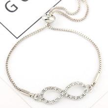 Pulsera de cadena con infinito con diamante de imitacion