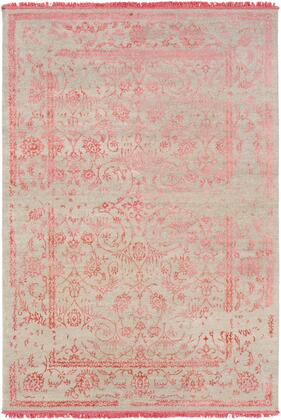 Evanesce ESC-5001 6' x 9' Rectangle Traditional Rug in Coral