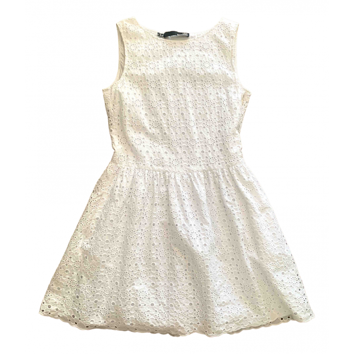 Moschino Love \N White Cotton dress for Women 42 IT