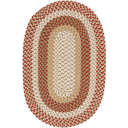 Colonial Mills Plymouth Reversible Braided Indoor/Outdoor Oval Rug, One Size , Red