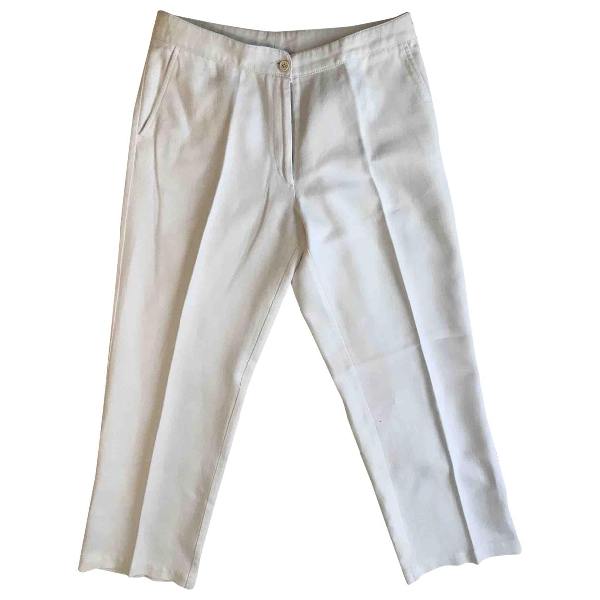Dries Van Noten \N White Cotton Trousers for Women 40 FR