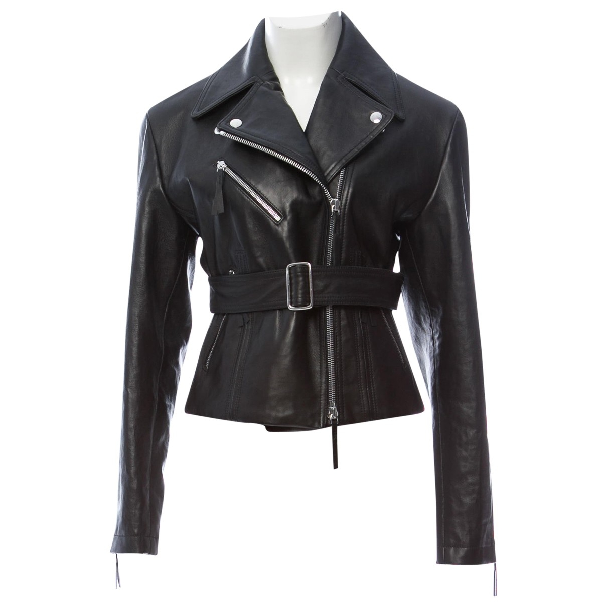 Calvin Klein Collection \N Black Leather jacket for Women 40 IT