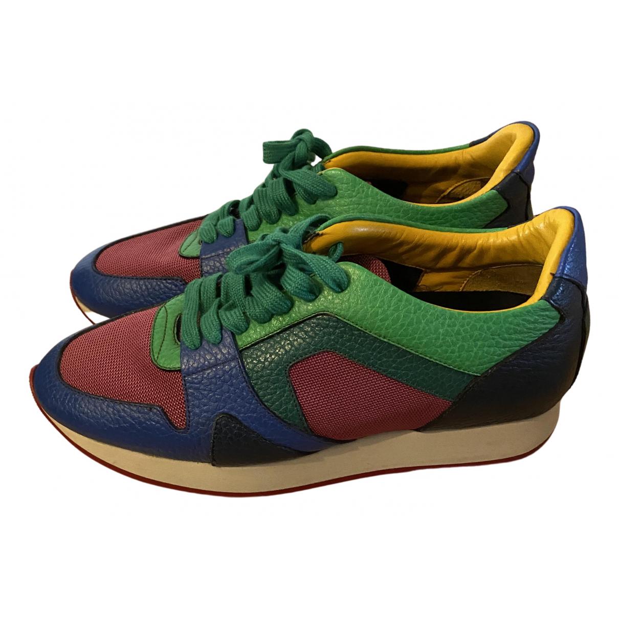 Burberry - Baskets   pour femme en cuir - multicolore