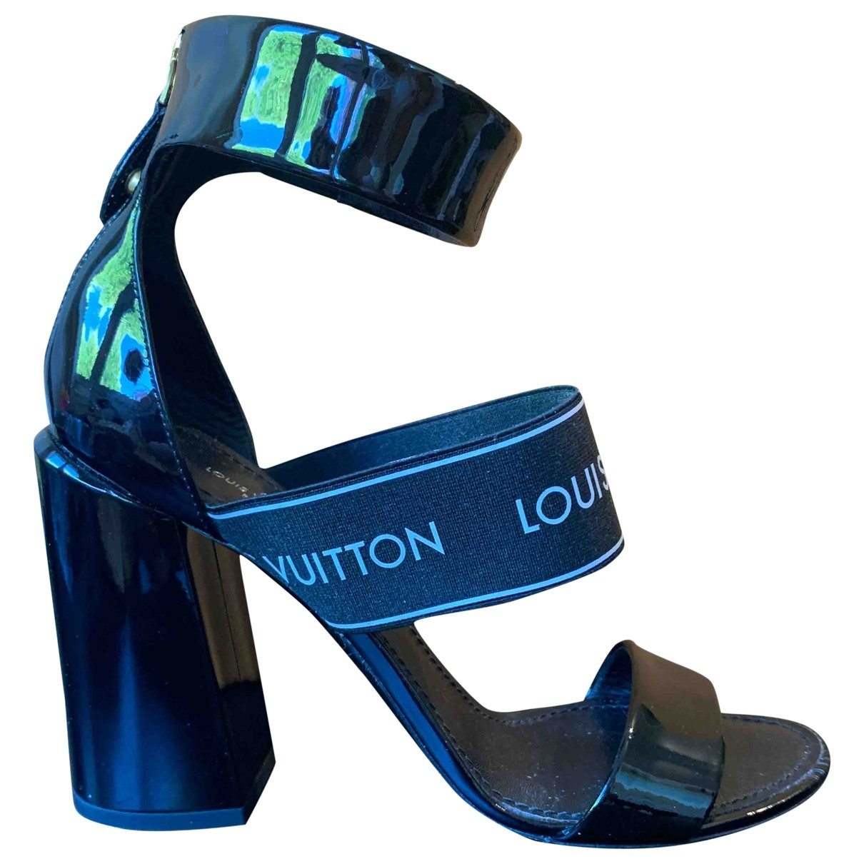 Louis Vuitton \N Black Patent leather Sandals for Women 39 EU