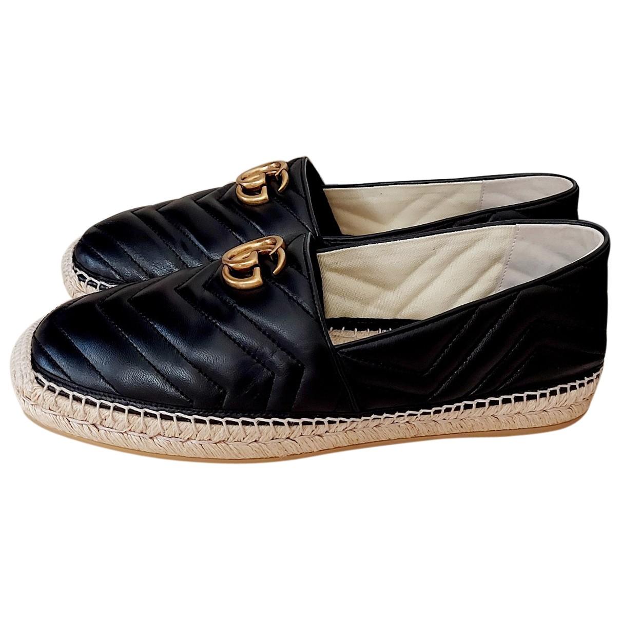 Gucci - Espadrilles   pour homme en cuir - noir