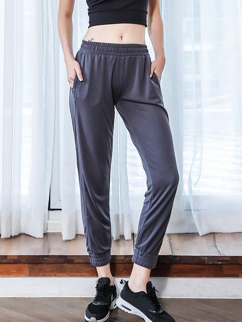 Ericdress Pockets Anti-Sweat Modal Solid Winter Sport Pants