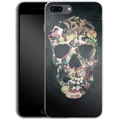 Apple iPhone 8 Plus Silikon Handyhuelle - Vintage Skull von Ali Gulec