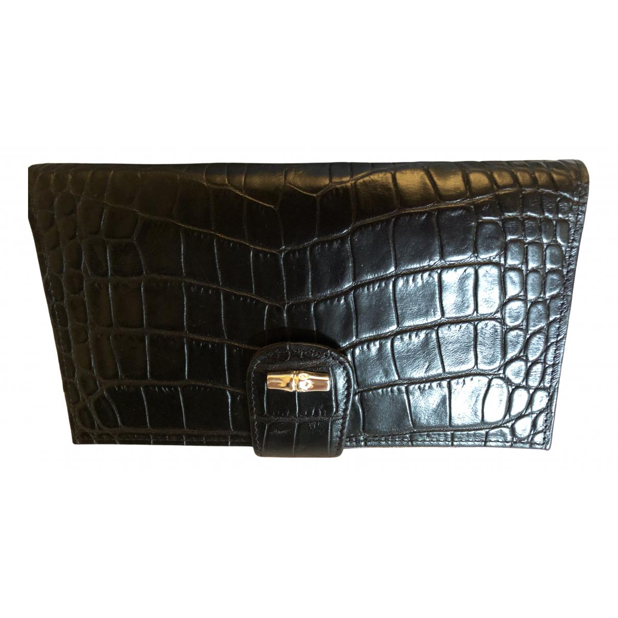 Longchamp N Black Leather Purses, wallet & cases for Women N