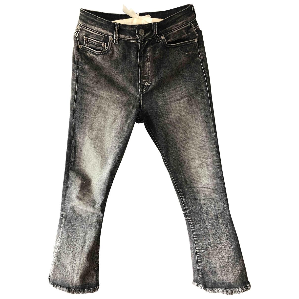 Htc - Jean   pour femme en coton - elasthane - anthracite