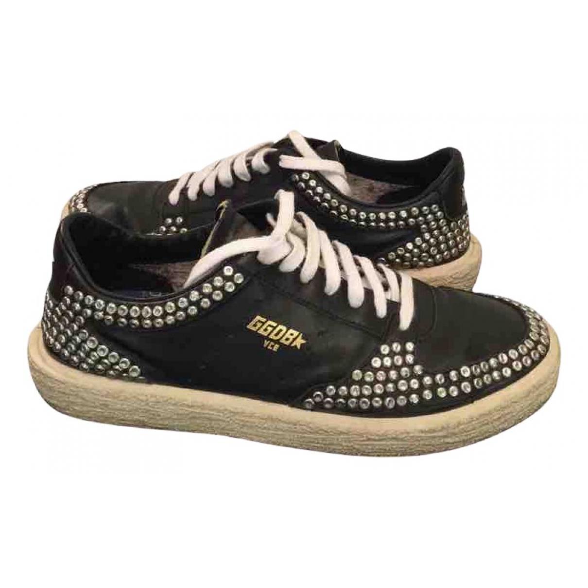 Golden Goose - Baskets Tenthstar pour femme en cuir - noir