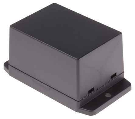 RS PRO Black ABS Enclosure, Flanged, 70 x 50 x 42mm